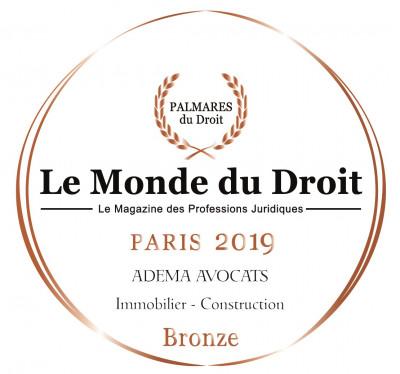 Adema avpcats - cabinet d'avocats Paris - Le monde du droit - Palmares du droit bronze