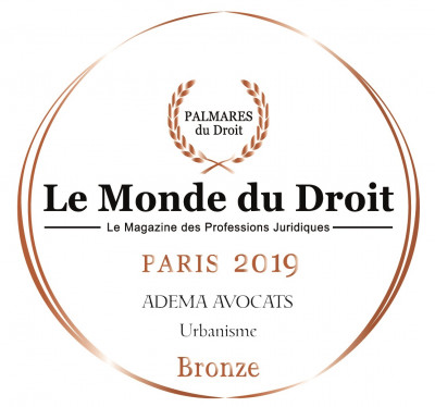 Adema avocats - cabinet d'avocats Paris - Le monde du droit 2019 - Palmares bronze droit de l'urbanisme