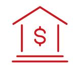 Adema avocat- cabinet d'avocats Paris - spécialistes du droit immobilier - pictogramme banque et finances